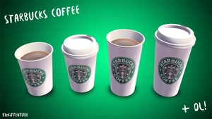 [MMD] Starbucks Coffee + DL by KittenTube