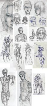 Sketches3 by Okaminu