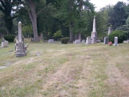 Cemetary for Tall Woman stock by HauntingVisionsStock