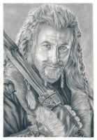 Dean O'Gorman as Fili, the dwarf (The Hobbit) by kad-portraits
