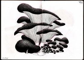 Mushrooms (Inktober #5) by nik159