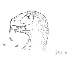 Velociraptor with Feathers by Tyrannosaur17