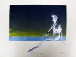 Ghost in a Wetsuit - Print by Saphiroko