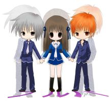 Fruits Basket chibis by MiKa-dorable