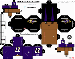 Ray Rice Ravens Cubee by etchings13