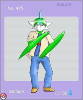 PKMN Gijinka - 475 Gallade by MythTrainerInfinity