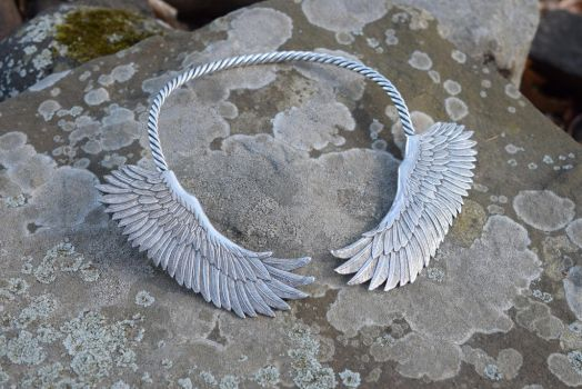 Angel Wing Torc Necklace by Heisenblade