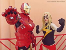 Iron Man and Ms Marvel by onlycyn