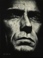 CLINT EASTWOOD in oil by klukart