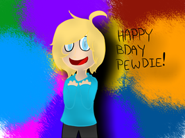 High on rainbows: Happy birthday Pewdiepie! by MiseourChair