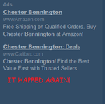 IT HAPPENED AGAIN (Chester Bennington for sale) by kaciekk