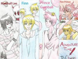 Free commission-Adventure Time boys by Eunmi1