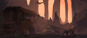 An Old Shack by Aiggy