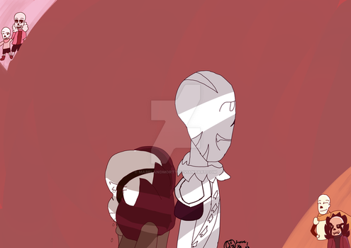 GZtale Ganz and Papyrus. by MabelandMorty