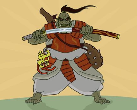 Request- Orc Samurai by Reel123