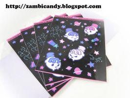 Space corns sticket sheet by zambicandy