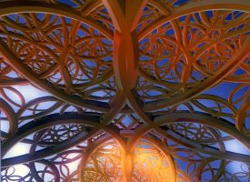 Cathedral Ornament by GLO-HE