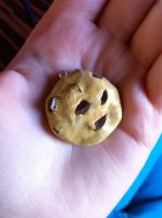 Chocolate chip cookie Pendent by XxSierraRose