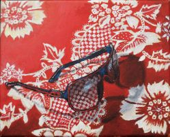 :Glasses On Fabric: Still Life by wanton-fox