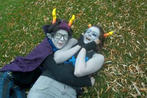 Eridan and Equius being best buddies by SpinklesOfTruth