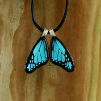 Custom Glass Blue Mini Wings by FusedElegance