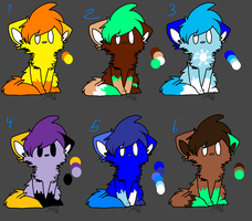 4 point adoptables!! by Snowflame132