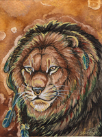 Majestic Lion Badge by MorRokko
