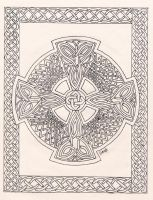 Celtic Faith - line art by merlynhawk