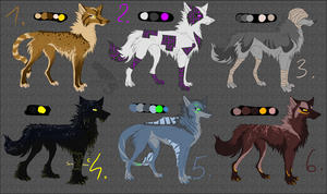 Point adoptable - Canine CLOSED 3 by Kocurzyca