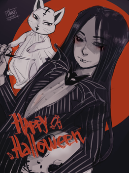 Hao Skellington by meodwarf