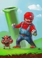 Not your childhood's Mario by Eljay93