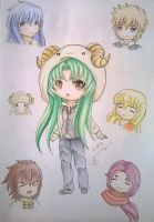 Shion and friends by Cleas