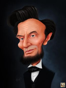 Caricature of President Abraham Lincoln by prosn