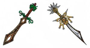 Earth and Light Sword Adopts, Closed. by madhatterkyoko