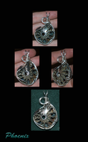 Drusy Pyrite Ammonite Pendant by Phoenix-Cry