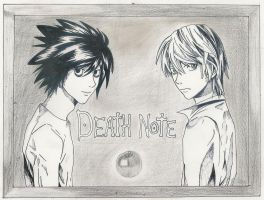 death note L and Light by karentje123