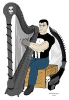 The Punisher and his harps by OwossoHarpist