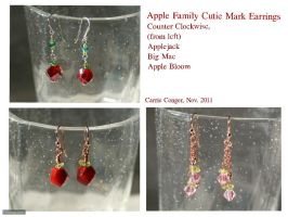 Cutie Mark Earrings - Apple Family by TheOGCarrieP