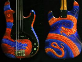 dragonized bass guitar by SMcNonnahs