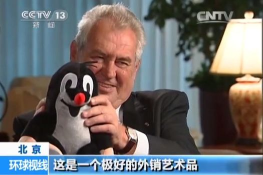 Me in Chinese TV by MiloshZeman