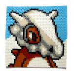 Cubone perler portrait by Aenea-Jones
