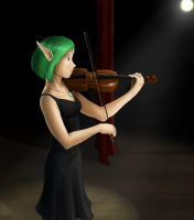 That girl with the violin by shadowednavi