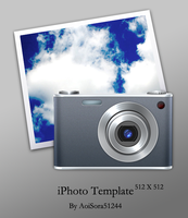 Apple iPhoto Icon Template by AoiSora51244