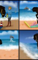 A day at the beach -animation- by saphiraly