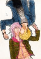 Lightning y Cloud by AurelGweillys
