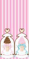 Ice Cream Fabric by FrostedFleurdeLis