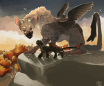 The Last Guardian/Nightfury by SimplyMisty