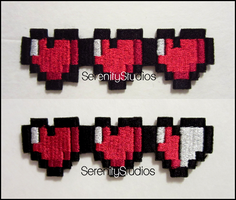 Pixel Heart Bar Patches by Serenity-Sama