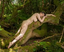 Woodland Nude by RavenLily1405