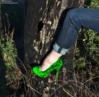 Heels and Nature -Green by TheSplitGemini